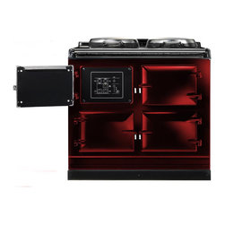 AGA Total Control Range Cooker, Claret | ATC3-CLT - The AGA Total Control Range Cooker is a newly designed version of the classic icon of British cooking. Three radiant-heat cast iron ovens and two hotplates give you 10 delicious ways to cook in one range.