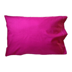 "A Little Pillow Company LLC - ""A Little Pillow Company"" 100% Cotton TODDLER PILLOWCASE, Magenta - Size: 14 in x 19 in"