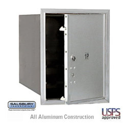 Salsbury Industries - 4C Horizontal Mailbox - 5 Door High Unit - Single Column - Stand-Alone Parcel Lo - 4C Horizontal Mailbox - 5 Door High Unit (20 Inches) - Single Column - Stand-Alone Parcel Locker - 1 PL5 - Aluminum - Front Loading - USPS Access