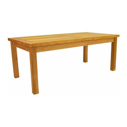 "Anderson Teak - Bahama Rectangular Coffee Table - This Classic 47"" Rectangular Coffee Table is sturdy, elegant and functional. Use to accompany the benches, or as a conversation table surrounded by our combination of bench and chairs."