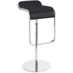 LEM Piston Stool with Leather Seat - Originally designed by Shin and Tomoko Azumi, this stunning stool is custom designed for style and comfort. The LEM Piston Stool with Leather Seat is sleek and modern while being simple and classic, a stylish addition to any contemporary interior.