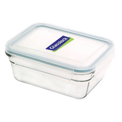 Glasslock Oven Safe Rectangle 3.5 cup - Oven-safe and microwavable