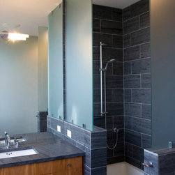 Bathroom Slate Countertops & Shower Surround - Architect: BOBarchitecture PC