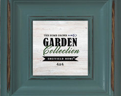 Lightaccents - Home Accents Wooden Picture Frame / Photo Frame 4 x 4 Inches (Light Green) - Part of the The Home Grown Garden Photo Frame Collection