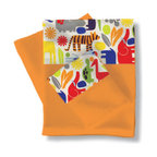 Room Magic - Zoo 4 U Twin Sheets & Pillowcase Set - Boys and girls will love our Zoo 4 U playful cotton sheet set in orange. Top sheet and pillow sham have zoo animal print border.