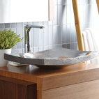 Kohani Brushed Nickel Copper Sink - For those of you who prefer sustainable products, this sink is made of recycled copper. I love the hammered metal finish and the clean, sleek look. There is definitely a zen quality to this tastefully designed sink.
