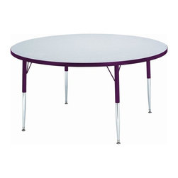 Jonti-Craft - Kid's Round Activity Table with Laminate Top and Adjustable Legs - This offering has a little bit of everything - durable design, outstanding value and plenty of value-added features. Our round kid's activity table is compact enough for busy rooms, yet spacious enough for plenty of activity.