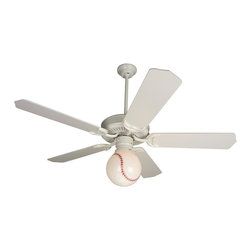 Craftmade - American Tradition 52 in. Fan in White w Standard Blades and Light Fitter - Fan Specs:. Heavy-Duty, 3 Speed Reversible Motor. 2 in. and 6 in. Downrods (Included). Meets Energy Star Energy Efficiency Standards. Number of Fan Blades: 5. Blade Pitch: 16°. Motor Size: 188 x 20mm. High Speed Amps: 0.7. RPM (Hi-Med-Low): 196-115-70. Airflow (Cubic FT/MIN): 6989. Electricity Use: 84 Watts. Airflow Efficiency (Cubic FT/Min/Watt): 72. Blade Specs:. Blade Length: 52 in.. Light Specs:. Bulb Type: Medium Base CFL. Max Watt: 1-13W CFL (Included). Glass Not Included. Height: 1.25 in.. Width: 4.25 in.