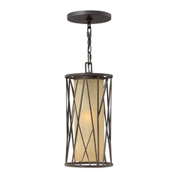 Hinkley Lighting - Hinkley Lighting 1152RB Elm Traditional Outdoor Hanging Light - Elm's nature-inspired design offers an organic feel with hand-made sculptural detailing set against a backdrop of elegant distressed amber etched glass.