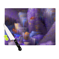 "Kess InHouse - Michael Sussna ""Purple Mountain Majesty"" Purple Cutting Board (11.5"" x 15.75"") - These sturdy tempered glass cutting boards will make everything you chop look like a Dutch painting. Perfect the art of cooking with your KESS InHouse unique art cutting board. Go for patterns or painted, either way this non-skid, dishwasher safe cutting board is perfect for preparing any artistic dinner or serving. Cut, chop, serve or frame, all of these unique cutting boards are gorgeous."