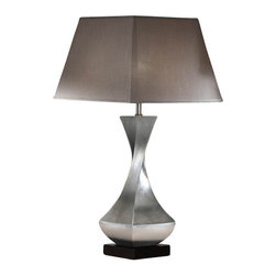 "Schuller - Schuller Deco Large Table Lamp - silver/silver - The Deco Large Table Lamp - silver/silver has been made by Schuller in Spain.  This table lamp collection was made of metal and wood. Silver leaves finish and very dark brown wooden square base The lamping comes with 1 X E27 Incandescent (Not included)   The Deco Large Table Lamp - silver/silver has been made by Schuller in Spain.  This table lamp collection was made of metal and wood Silver leaves finish and very dark brown wooden square base The lamping comes with 1 X E27 Incandescent (Not included)      Manufacturer: Schuller   Designer: Schuller    Made in: Spain    Dimensions:  Height:33.86"" (86 cm) X Depth:16.93"" (43 cm) X Width:16.93"" (43 cm)     Lamping:  1 X E27 Incandescent (Not included)     Material: Metal, wood"