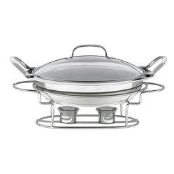 Cuisinart - Cuisinart Stainless Steel Round Buffet Server - Easy and elegant way to keep party dishes warm when entertaining