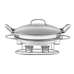 Cuisinart - Cuisinart Stainless Steel Round 3-Quart Buffet Server - Easy and elegant way to keep party dishes warm when entertaining