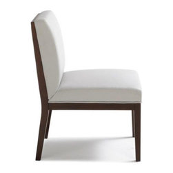 "Sunpan Modern - Othello Parsons Chair (Set of 2) - Features: -Material: Faux leather.-Frame: Solid wood.-Modern and slightly over-sized dining chair can also be used as an occasional chair.-Finish: Espresso.-Please note that the leg color on Sunpan dining chairs does not always match the dining table color.-Please note that although every attempt has been made to ensure accuracy, all dimensions are approximate and colors may vary.-Distressed: No.-Upholstered Seat: Yes .-Upholstered Back: Yes .Dimensions: -Seat height: 18"".-Overall Product Weight: 26 lbs."