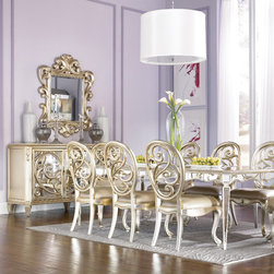 Dining Rooms | Smart Furniture - Dining around this glamorous table is the recipe for a chic meal.