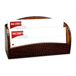 Dacasso - Dacasso Pescara Crocodile Letter Holder Multicolor - A2008 - Shop for Desk and Drawer Organizers from Hayneedle.com! Our letter holder is wrapped in genuine top-grain leather embossed to appear like natural crocodile. The earth toned suede liner adds an extra touch of quality. Order today to hold your mail in style!