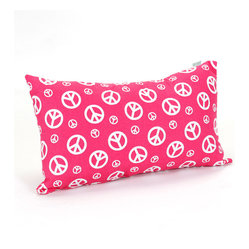 Indoor Hot Pink Peace Small Pillow