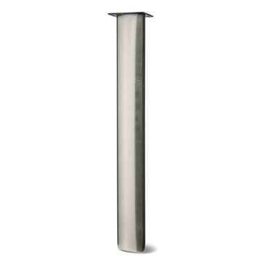 """Ojo Leg - TL-OJO - Oval leg comes to a point on either end to create an intriguing eye-shaped design. Extends out to the very edge of the low profile top plate to maximize visibility with corner placement. 3"""" x 6"""" oval is standard, but not limited to this size."""