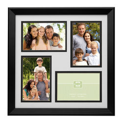 Origin Crafts - Hudson collage 4 picture frame - black (4x6) (two left) - Hudson Collage 4 Picture Frame - Black Natural Pine Wood, beveled double-matting, velvet back, two way easel, wall hangers. Natural wood, expert craftsmanship and unique design are combined to create a beautiful collection of wood frames. All wood is harvested from renewable plantations. Holds four 4-inch by 6-inch photos. Dimensions (in):13.4 x 0.5 x 13.4 inches ; 2.2 pounds By Prinz - Prinz is a leading supplier of picture frames. At Prinz they are committed to offering unsurpassed design, quality, and value. Ships within five business days.