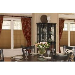 Traditional Dining Room Curtains & Draperies of Indianapolis- Custom Styles at A - These draperies are custom pleated and frame the windows perfectly.  They can be used with tie-backs or without and are a great way to 'soften' any space.