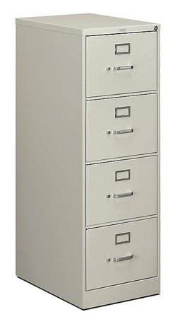 """Hon - Hon 510 4-Drawer Legal File, 52""""x18""""x25"""" - File this piece under """"Essentials."""" The tall cabinet is made of strong steel in a misty gray finish, sure to look great in any space. And the four locking drawers are sized to hold legal-sized hanging files."""