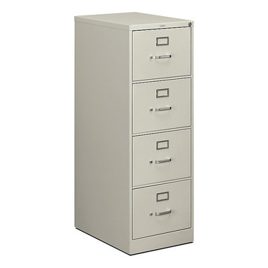 "Hon - Hon 510 4-Drawer Legal File, 52""x18""x25"" - File this piece under ""Essentials."" The tall cabinet is made of strong steel in a misty gray finish, sure to look great in any space. And the four locking drawers are sized to hold legal-sized hanging files."