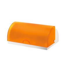 Guzzini Latina Bread Bin, Orange - This is such a great find for a kitchen! Orange is a great color to incorporate this season, and this bread bin is one practical and pretty way to do it.