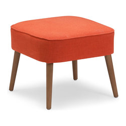 Zuo Modern Contemporary, Inc. - Buckeye Stool Sunkist - Wide with splayed legs, the Buckeye Stool is sturdy yet stylish. Complements brightly colored rooms or adds pop to more sedate spaces. Comes in sunkist, mustard or aqua.