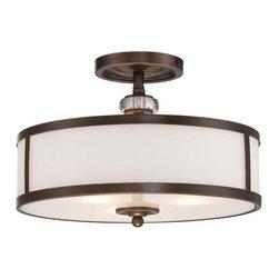 Minka Lavery - Minka Lavery 4942-570 3 Light Semi-Flush Ceiling Fixture from the Thorndale Coll - Three Light Semi-Flush Ceiling Fixture from the Thorndale CollectionFeatures: