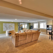 Traditional Basement by Renovation Design Group