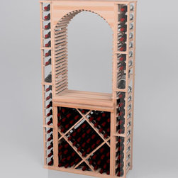Designer Series Wine Rack- Open Diamond Bin - Add an eye catching focal point to your wine cellar by incorporating an Open Diamond Bin. This can be combined with the following three separate components; a table top, and an archway or a glass rack.