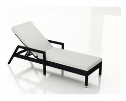 Forever Patio - Urbana Wicker Outdoor Chaise Lounge, Canvas Natural Cushion - The Harmonia Living Urbana Rattan Patio Reclining Chaise Lounge with White Sunbrella cushions (SKU HL-URBN-CB-RCL-CN) brings comfort and style to your outdoor space. Each chaise is constructed with durable, thick-gauged aluminum frames which are protected by a powder coating for superior corrosion resistance. The wicker is made of High-Density Polyethylene (HDPE) with its coffee bean color and UV resistance infused into the strands themselves. This creates a rich wicker color that holds up incredibly well with age.Thick, comfy cushions are covered in Canvas Natural fabric by Sunbrella, the industry leader in mildew- and fade-resistant outdoor fabric. This chaise adheres to the highest quality standards for modern patio furniture in the market today, meaning it will last for years to come.