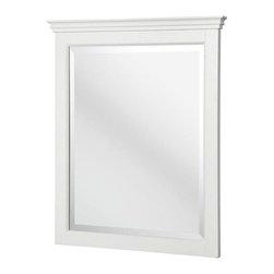 Pegasus - Pegasus Carrabelle 31 in. x 25 in. Wall Mirror in White (CAWM2530) - Carrabelle 31 in. L x 25 in. W Wall Mirror in White