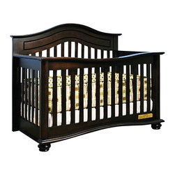 AFG Baby - AFG Baby Jordana Convertible Crib in Espresso - The Lia Crib from our Jordana Collection boasts a bold, assertive style that brings pronounced elegance into any nursery. Designed with a tasteful twist on the classic missionary style, the Lia Crib is timeless and sure to become the centerpiece of those joyous early years. Uncompromising in quality and strength, the Lia is built to last with a solid hardwood construction and nontoxic finish. It features an adjustable 3-level mattress support can be converted into a toddler bed or full-size bed. Guardrail and conversion rails sold separately.