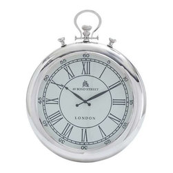 "BZBZ27863 - Wall Clock Simple Classic Design in Round Shape - Wall Clock Simple Classic Design in Round Shape. Crafted with fine detailing, this elegant clock includes minimal styling to give it a simplistic, yet attractive appearance. It comes with the following dimensions: 25"" W x 3"" D x 18"" H."