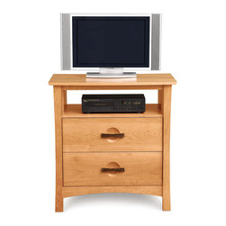 Copeland Furniture - Copeland Furniture Berkeley 2 Drawer Chest + TV Organizer 2-BER-25-03 - The Berkeley 2 drawers and TV organizer is made of solid cherry hardwood with American black walnut accents.