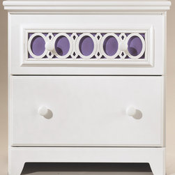 None - Signature Design by Ashley Zayley White Two Drawer Night Stand - The Zaley two drawer night stand features a vivid white finish and an exciting contemporary design. This piece features the versatility of nine interchangeable color panels to add your own personal flair to the bedroom decor.