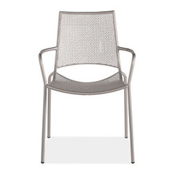 """Malibu Dining Chair - Dimensions: 23""""W x 22""""D x 34""""H. Made of steel with a powder-coat finish. Stackable."""