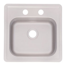 FEDERAL HOME PRODUCTS - 15 x 15 x 6 Stainless Steel Bar Sink - Stainless Steel Bar Sink 3 Star Collection