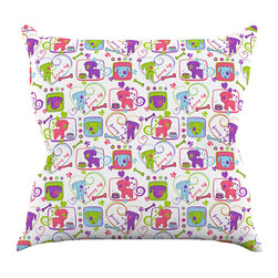 """Kess InHouse - Julia Grifol """"My Loving Dogs"""" Throw Pillow (20"""" x 20"""") - Rest among the art you love. Transform your hang out room into a hip gallery, that's also comfortable. With this pillow you can create an environment that reflects your unique style. It's amazing what a throw pillow can do to complete a room. (Kess InHouse is not responsible for pillow fighting that may occur as the result of creative stimulation)."""