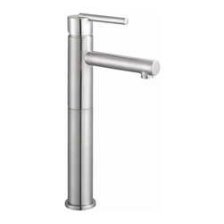 Design House - Geneva Vessel Single Hole Lavatory Faucet - Includes pop-up for sealing drain. Brass waterways. Ceramic disc cartridge. 4 in. center mount. 0.25 in. quarter turn stop. Single handle configuration. 1.3 gallon per minute at 60 PSI flow rate. 3.75 in. spout reach. UPC, cUPC, ASME, ANSI, ADA, NSF, lead-free, AB-1953, water sense compliant. Made from brass and zinc. Satin nickel color. 21 in. W x 7.3 in. D x 13.2 in. H. Warranty. Installation InstructionsThe brass waterways contain zinc and copper which are known to prevent antimicrobial growth ensuring safe and clean water for your family. This faucet has a sleek, modern style with a high-vaulted spout to turn any bathroom into a luxurious pamper room. With the water sense label, this faucet is a water-efficient product and certified to meet EPA water sense criteria for efficiency and performance. this product adheres to industry leading practices and standards.