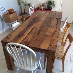 Dining Table - White Oak Farmhouse Table - Thomas Porter