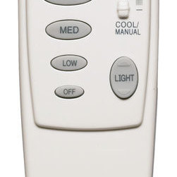 Quorum International - Quorum International 7-1401-0 White  Fan Remote Control - 2 Wire Canopy Remote Control with Reverse Function Controls 3 speeds and forward / reverse functions on one fan and light dimmer Also features a temperature sensor Receiver fits in ceiling canopy and uses 2 existing wires Can be used with Halogen Light Kits (100w Bulb Max)