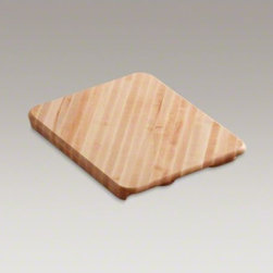 KOHLER - KOHLER Hardwood cutting board for Alcott(TM), Dickinson(R) and Galleon(TM) kitch - Specially sized to fit over a wide range of sink basins, this cutting board brings versatility and convenience to your kitchen. Prepare vegetables and slide the scraps straight into the sink and out of sight. Durable hardwood offers long-lasting performance.