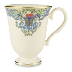 Lenox - Lenox China Autumn 9-ounce Accent Mug - The lovely hues of fall flowers are depicted in an ornate design distinguishes this Lenox Autumn-pattern mug. Perfect for a cup of coffee or tea, this bone china accent mug complements an elegant collection.