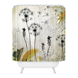 DENY Designs - Iveta Abolina Little Dandelion Shower Curtain - Who says bathrooms can't be fun? To get the most bang for your buck, start with an artistic, inventive shower curtain. We've got endless options that will really make your bathroom pop. Heck, your guests may start spending a little extra time in there because of it!