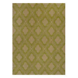 """Kas - Contemporary Natura 2'3""""x3'9"""" Rectangle Lime Area Rug - The Natura area rug Collection offers an affordable assortment of Contemporary stylings. Natura features a blend of natural Sage color. Handmade of 100% Jute the Natura Collection is an intriguing compliment to any decor."""
