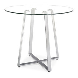 ZUO - Lemon Drop Counter Table - Fresh and modern, the Lemon Drop Counter Table is a favorite. Crafted from clear tempered glass with a chrome tube base. Like all good citrus, it enhances almost anything.