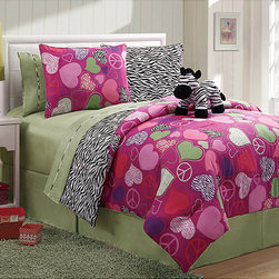 None - Reversible Zebra 3-piece Twin-Size Comforter Set - This zebra comforter is reversible so you'll feel like you're getting two comforters for the price of one. The included stuffed animal adds coziness and cuteness to this comforter set.