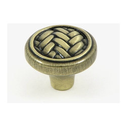 Stone Mill Hardware - Stone Mill Hardware Brushed Antique Brass Harris Cabinet Knob - Stone Mill Hardware - Brushed Antique Brass Harris Cabinet Knob